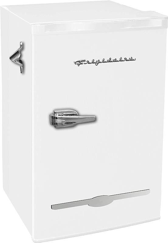 Frigidaire EFR376 WHITE 3 2 Cu Ft White Retro Bar Fridge With Side Bottle Opener