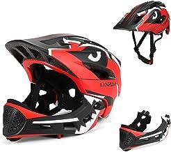 Lixada Kids Bike Helmet,Adjustable Detachable Full Face Helmet for Cycling Helmet for 3-15 Years Children Bicycle, Skatebo...