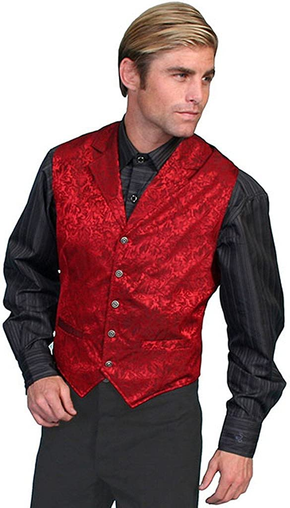 Scully Wahmaker Men's Wahmaker Silk Floral Single Breasted Vest Big and Tall
