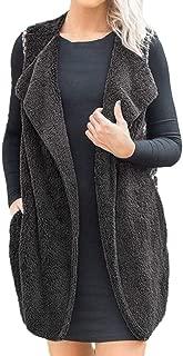 Women Jacket Sleeveless Outwear Plush Patchwork Open Front Folk Custom Vest Waistcoat Gilet Coat
