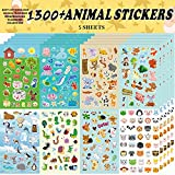 Sinceroduct Animal Stickers, Stickers for Kids Assortment Set 1300 PCS, 8 Themes Collection for Children,...