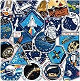 ZJJHX Astronauta Personalizado Space Trolley Stickers Maleta Stickers Cartoon Laptop Skateboard Water Cup Stickers 22 Piezas