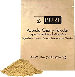 Acerola Cherry Powder (8 oz, ½ TSP per Serving) by Pure Ingredients, 100% Pure, Rich in Vitamin C & Immunity Boosting, All...