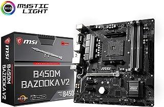 MSI B450M Bazooka V2 - Placa Base Arsenal (Chipset AMD B450, DDR4 Boost, Intel LAN, Audio Boost, HDMI, soporta AMD Ryzen pocesadores) Color Negro