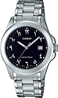 Casio Watch For Men Quartz , Analog Display and Stainless Steel Strap Mtp-1215A-1B3Df, Silver Band