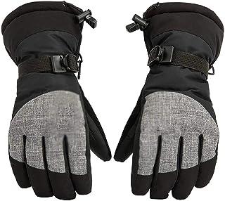 EODNSOFN Extra épais eau chaude étanche ski flûte gants coupe-vent hiver extérieur sport snowboard motoneige moto équitati...