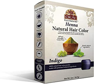 OKAY | Herbal Henna Hair Color Indigo | For All Hair Types & Textures | Rich, Vibrant Color | Made with Premium Botanical ...