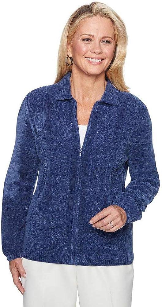 Alfred Dunner Women's Novelty Design Embellished Sweater