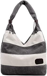FTSUCQ Womens Canvas Shoulder Handbags Casual Tote Hobos