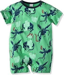 LittleSpring Baby Boys Cotton Cute Dinosaur Printing One-Piece Romper 0-3T