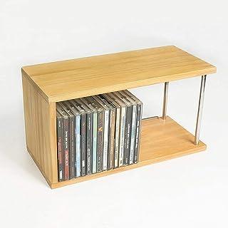 Estante de almacenamiento de CD y DVD, Unidad de estantes de CD de juegos Álbum de música Organizador de CD Medios de made...