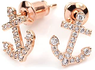 Best rose gold anchor earrings Reviews