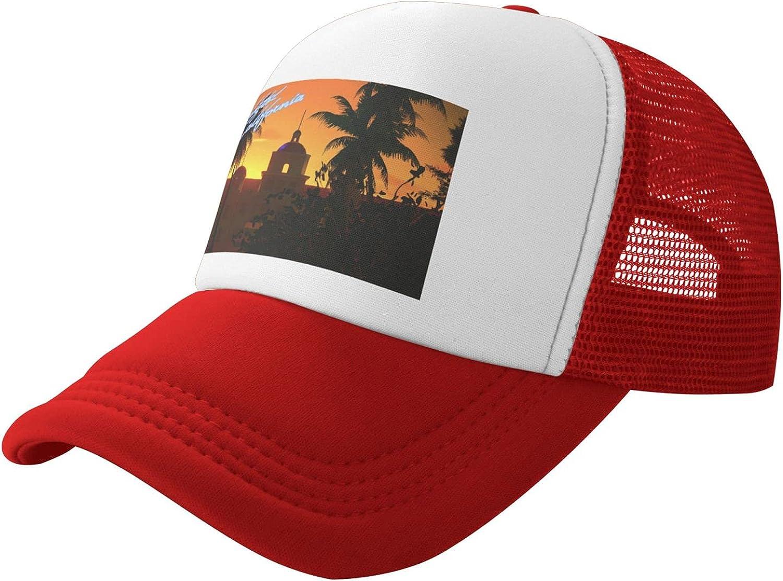 Hotel California Outdoor Baseball Cap, Ball Cap, Mesh Cap, A Hat Suitable for All Occasions