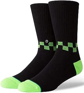 Stance Checkness Crew Socks Neon