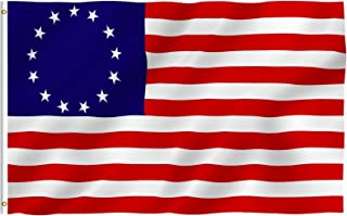 Best Anley Fly Breeze 3x5 Foot Betsy Ross Flag - Vivid Color and Fade Proof - Canvas Header and Double Stitched - United States Flags Polyester with Brass Grommets 3 X 5 Ft Review
