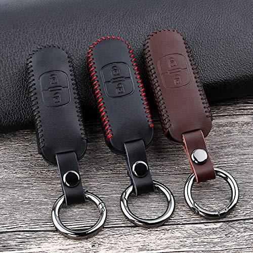 HKPKYK Leder Auto Schlüsselhülle Abdeckung, Für Mazda 2 3 5 6 BM BL GH Axela CX-5 CX5 CX 5 CX3 CX7 CX9 MX5 ND NB 2015 2016 2017 2018 Zubehör
