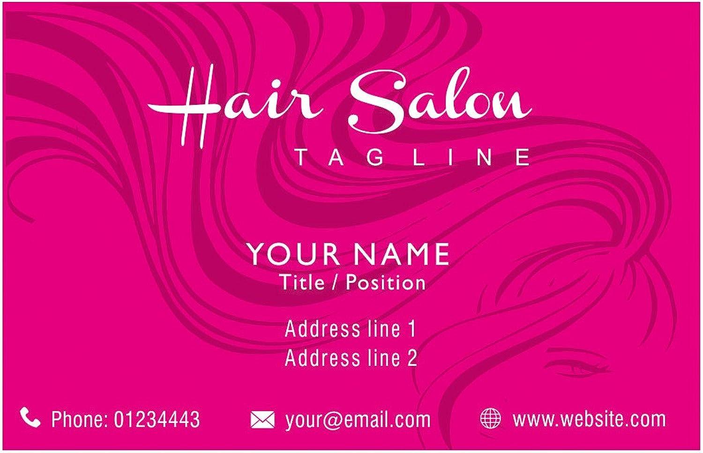 Haar-Schönheits-Salon-personalisierte Visitenkarten Kundenspezifische Kundenspezifische Kundenspezifische Berufs Visitenkarte Rosa - Front B01EUL1044  | Langfristiger Ruf  f819ff