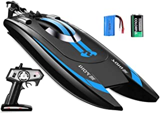FMT 7014 Remote Control Speed Boat, High Speed RC Racing Boat, Speed of 12 Mph for Pool & Outdoor Use Adults & Kids (Color May Vary)