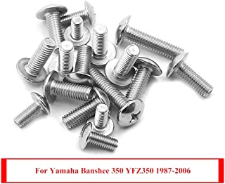 Cosmoska 17 piece fender bolts screws mount kit Stainless Steel For Yamaha Banshee 350 YFZ350 1987-2006 Heel Guards Screws Grill Tank Side Cover Bolts Replacement 90149-06306 90150-06037 90154-05013