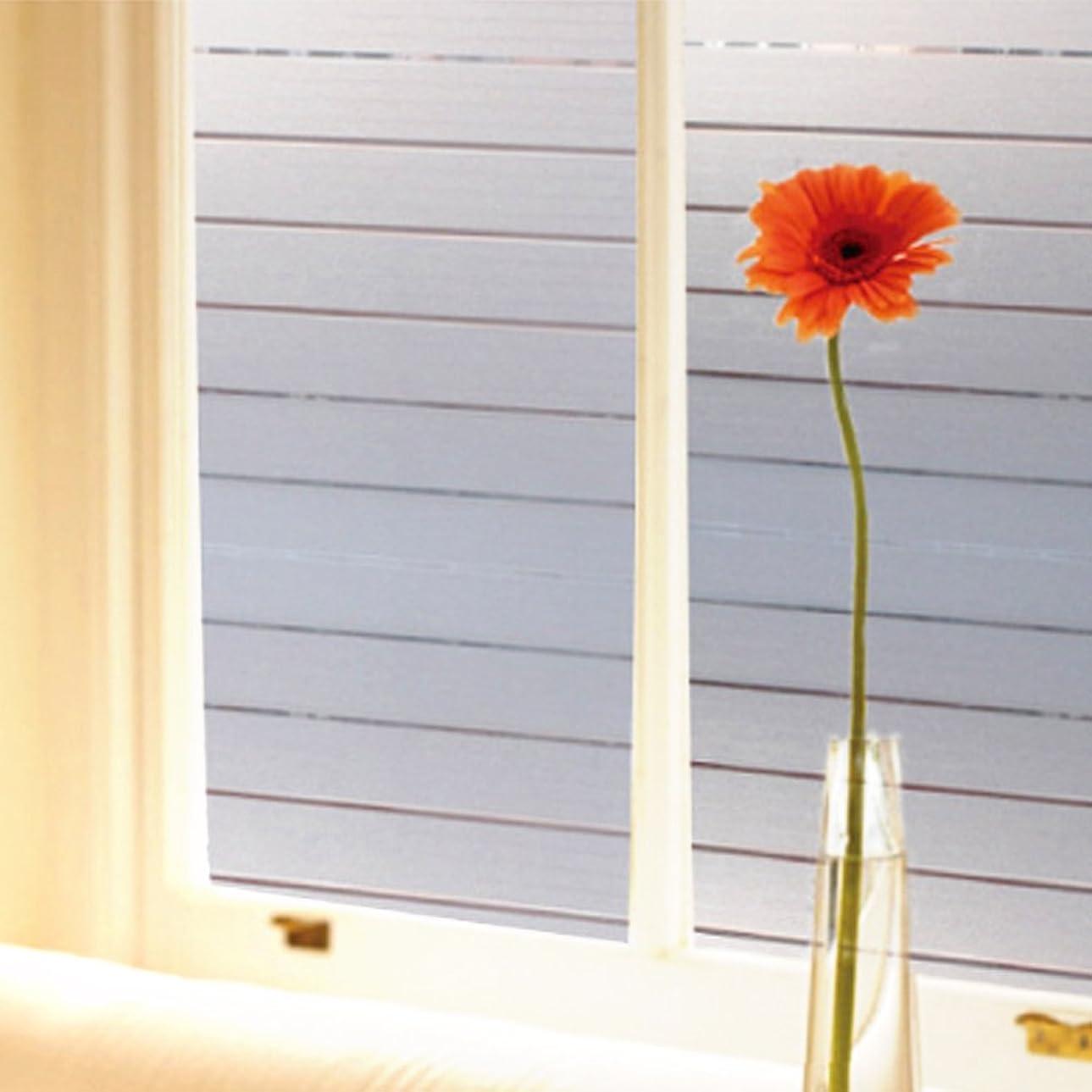 温帯拍車活気づくSmaTabi 窓用フィルム ガラスフィルム 窓 水だけで貼れる 目隠しシート 遮光 断熱 UVカット (90cm x 200cm ワイドボーダー柄)