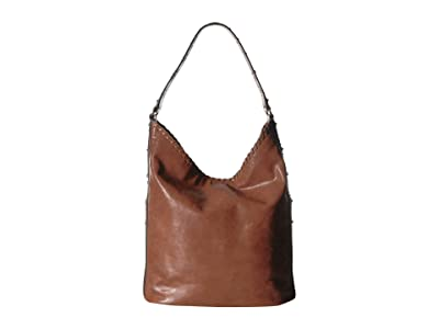 Frye Concho Studded Hobo (Cognac) Hobo Handbags