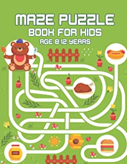 Maze puzzle book for kids age 8-12 years: Funny Logical Maze Puzzle Books. Children with Games, Puzzles and fun practice b...