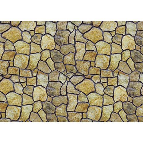 Vlies Fototapete PREMIUM PLUS Wand Foto Tapete Wand Bild Vliestapete - Steinwand Steinoptik Steine runde Steine - no. 2313, Größe:208x146cm Vlies