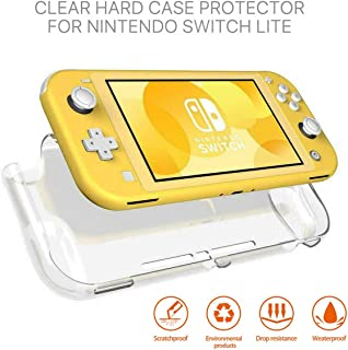 For Nintendo Switch Lite Transparent Clear Shockproof Protective Hard Case Cover Anti-Scratch