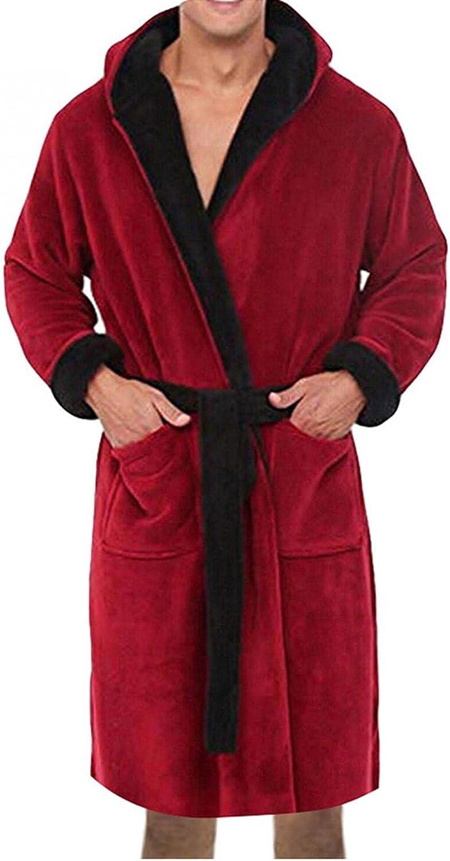 Burband Mens Womens Luxurious Plush Kimono Hooded Robe Plus Size Fleece Spa Bathrobes Winter Sherpa Robes for Couple S-5XL