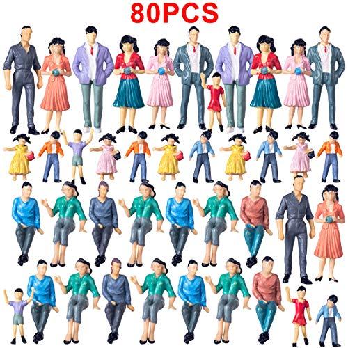 Spieland - Figuren für Modelleisenbahnen in Mehrfarbig, Größe ca.4-7cm
