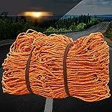 Coche Trasero Cargo Neto Cuerda de Poliéster Cubierta Red de Red Coche Protección Neto Anti-caída Netificación Pesado Carga Net Planta Buque Transporte Segurid(Size:6x7m/19.68x22.96ft,Color:15cm Mesh)