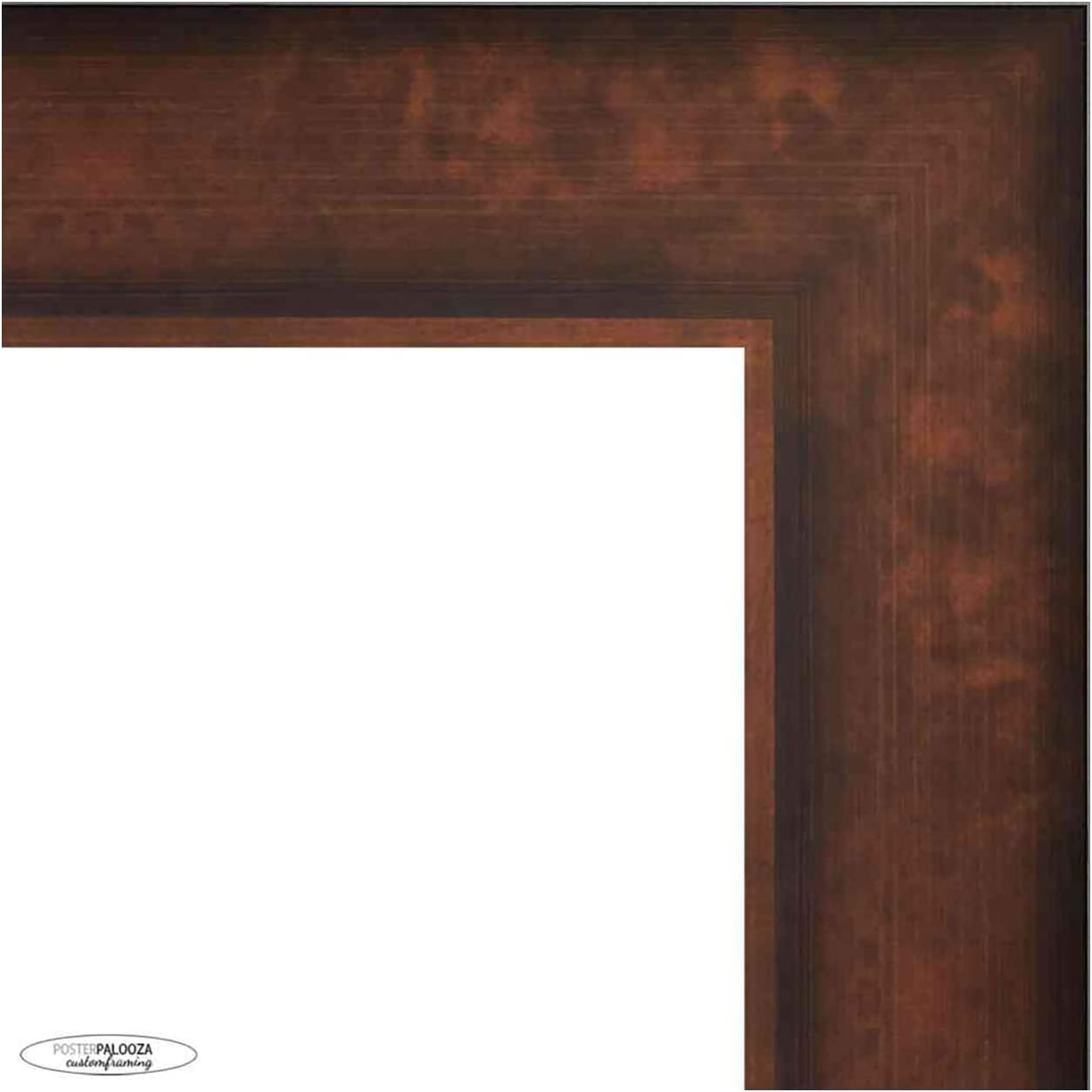 Outlet SALE Poster Palooza 36x24 Traditional Max 53% OFF Bronze Complete Wood Picture Fr
