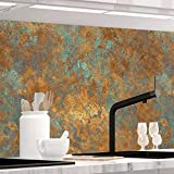 Küchenrückwand 1,5mm selbstklebend - VINTAGE BRONZE - Hartkunststoff, alle Untergründe möglich, Spritzschutz, PREMIUM 60 x 280cm