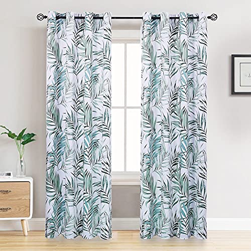 Blackout Curtains, Back Tab and Rod Pocket Solid Blackout Curtains, Thermal Insulated Window Drapes for Living Room, 2 Panels (W52 X L84 X2, Bamboo)