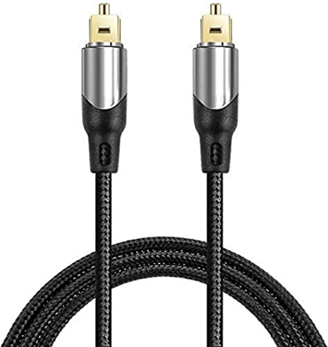 CableCreation Digital Audio Cable 10FT, Digital Optical Cable [24K Gold Connector, Nylon Braided] Optical Audio Cable...