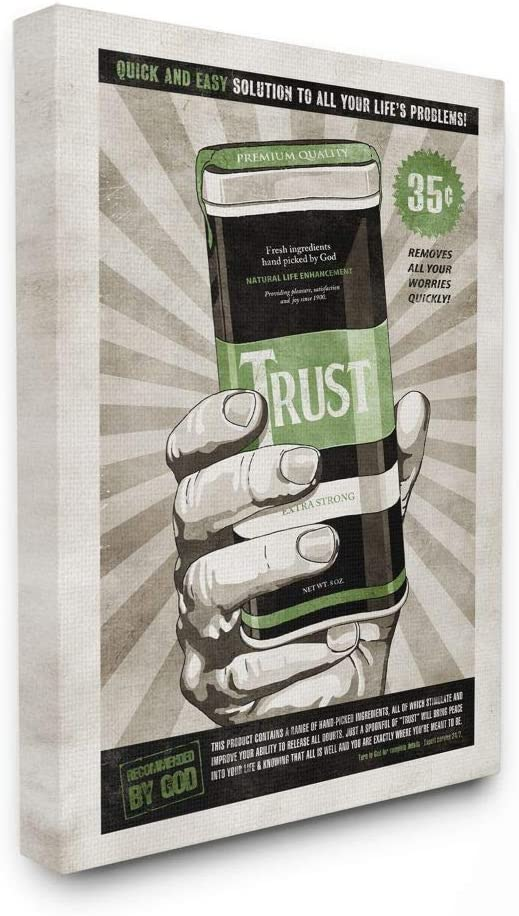Stupell Max 59% OFF Industries Extra Strong Comi Trust Our shop most popular Inspirational Vintage