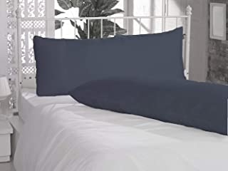 Navy Blue Heavy Quality Hotel CollectionBody Pillow Cover Set of 2 - Luxury 400 Thread Count 100% Cotton Solid Body Pillow 20