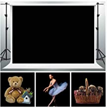 GESEN Black Muslin Backdrop 10x7ft Solid Non-woven Fabric Seamless Background Photo Video Studio Props WGE001