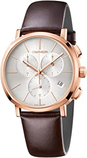 Mens Chronograph Quartz Watch with Leather Strap K8Q376G6