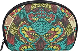 Small Shell Cosmetic Beauty Bag Ethnic Turtle Half Moon Travel Handy Organizer Clutch Pouch