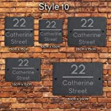 Active Window Films Rustic Natural Slate House Gate Sign Plaque Door Number Personalised Name Plate (Style 10)