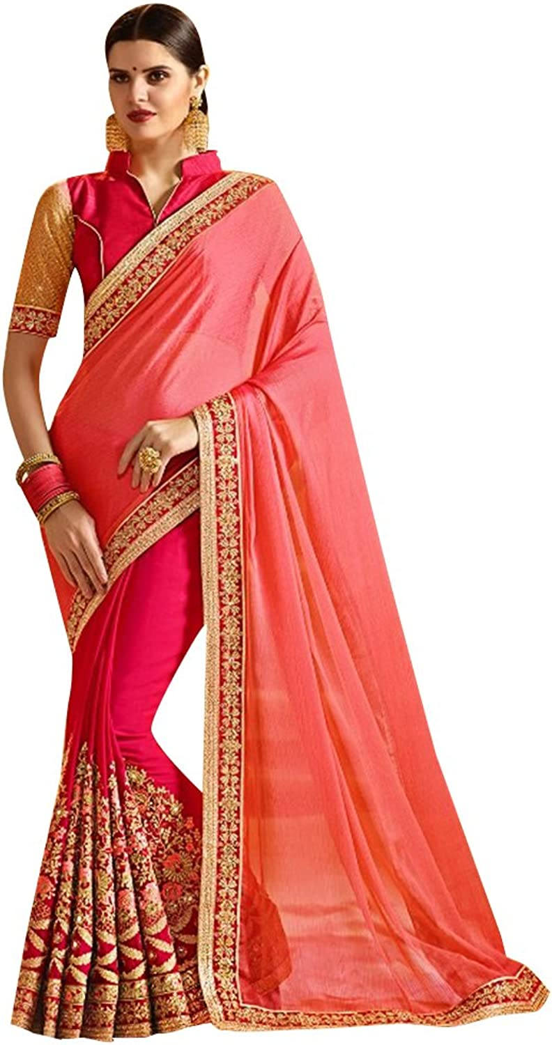 Bridal Bollywood Saree Sari Collection Blouse Wedding Party Wear Ceremony Women Muslim 740 2