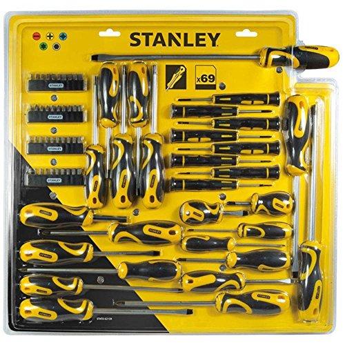 Stanley STHT0-62139 Kit Serraggio Cacciaviti, Set di 69 pz