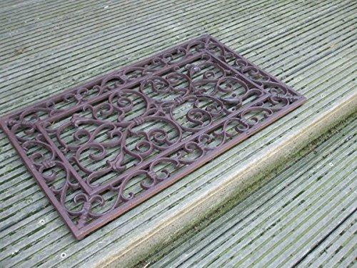 Deko-Impression Dekorativer Fußabtreter, Fußmatte,Türmatte,Gusseisen,58x34 cm Landhaus