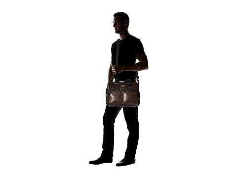 Leather Albany Alpha marrón Slim Commuter cuero Brief oscuro Bravo Tumi qStnwCn