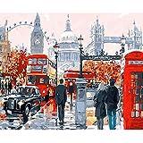 CofunKool Jigsaw Puzzles Londres Calle 1000 Piezas Puzzle para Adultos, 70 x 50 cm