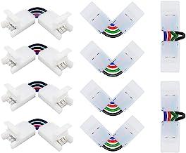 NexillumiLShape4-pinConnectorsAngleAjustable(90-180Degrees)LED Strip Connectors for10mmWidth 5050RGBLEDStrip...