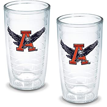 Clear Tervis 1214329 Auburn Tigers College Pride Tumbler with Wrap and Orange Lid 24oz