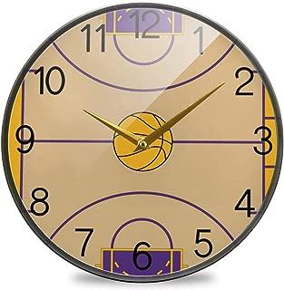 Chovy 掛け時計 サイレント 連続秒針 壁掛け時計 インテリア 置き時計 北欧 おしゃれ かわいい バスケ バスケットボール おもしろ かわいい 可愛い 部屋装飾 子供部屋 プレゼント