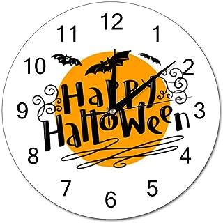 Chenxiaobo Happy Halloween Silent PVC Round Wall Clock Arabic Numerals Home Decor Wall Clock